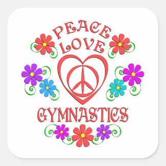 Adesivo Quadrado Ginástica do amor da paz