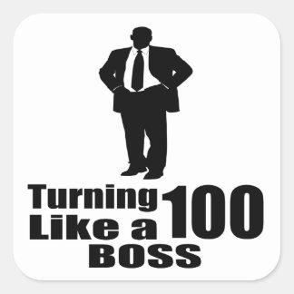 Adesivo Quadrado Girando 100 como um chefe