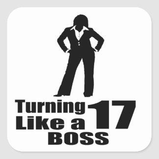 Adesivo Quadrado Girando 17 como um chefe