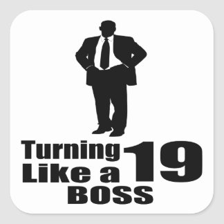 Adesivo Quadrado Girando 19 como um chefe