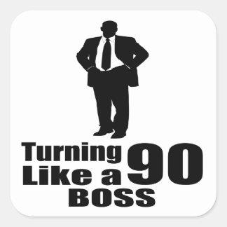 Adesivo Quadrado Girando 90 como um chefe
