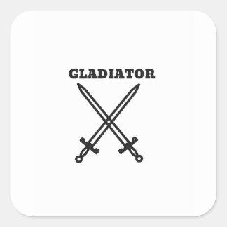 Adesivo Quadrado Gladiador