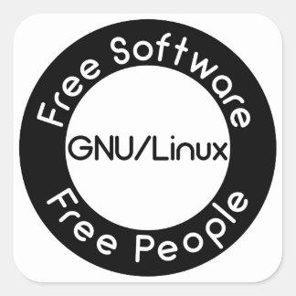 Adesivo Quadrado GNU/Linux