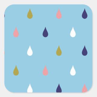 Adesivo Quadrado Gotas felizes da chuva
