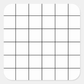 Adesivo Quadrado grade preta,    fundo branco