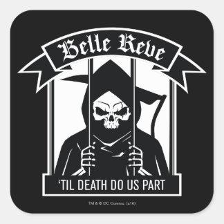 Adesivo Quadrado Gráfico da ceifeira de Reve do Belle do pelotão  