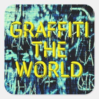 Adesivo Quadrado Grafites o mundo…