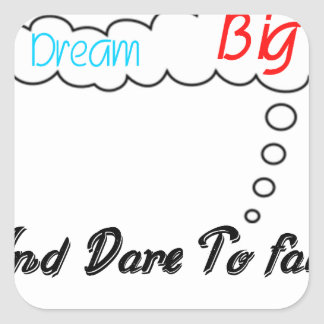Adesivo Quadrado Grande ideal e desafio a falhar