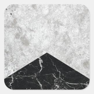 Adesivo Quadrado Granito concreto #844 do preto da seta