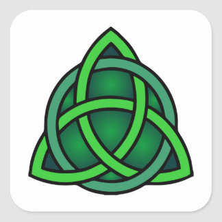 Adesivo Quadrado gre irlandês pagão do símbolo antigo celta de