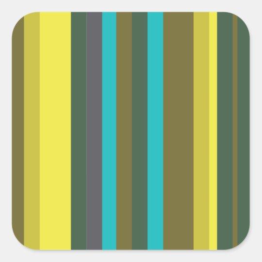 Adesivo Quadrado Green_stripes
