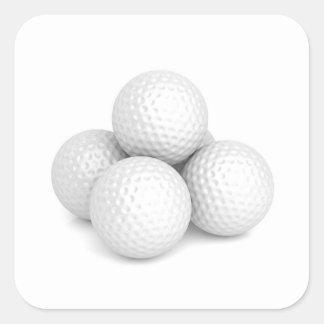 Adesivo Quadrado Grupo de bolas de golfe