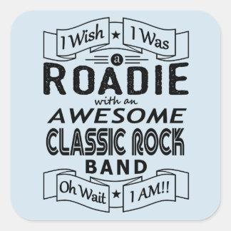 Adesivo Quadrado Grupo de rock clássico impressionante de ROADIE