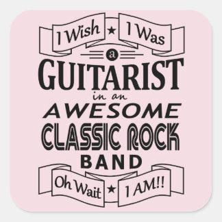 Adesivo Quadrado Grupo de rock clássico impressionante do