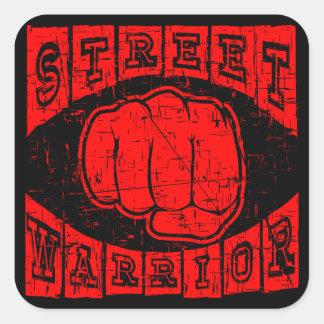 Adesivo Quadrado guerreiro da rua