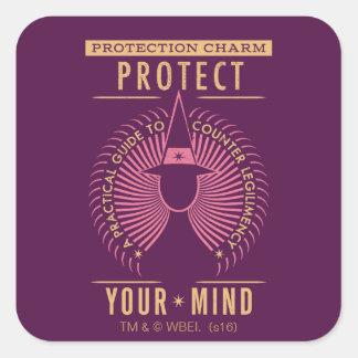 Adesivo Quadrado Guia do encanto da proteção