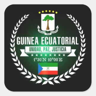 Adesivo Quadrado Guiné Equatorial