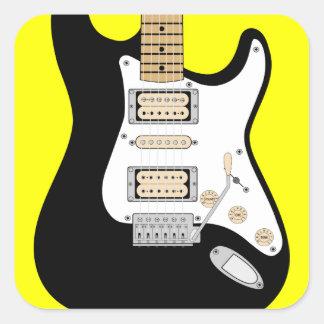 Adesivo Quadrado Guitarra elétrica