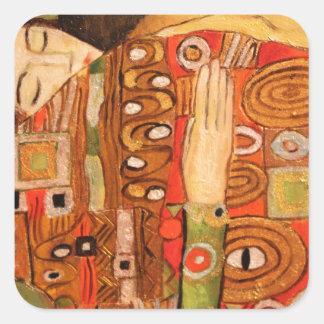 Adesivo Quadrado Gustavo Klimt