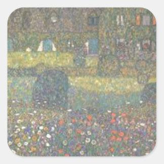 Adesivo Quadrado Gustavo Klimt - casa de campo pela arte de