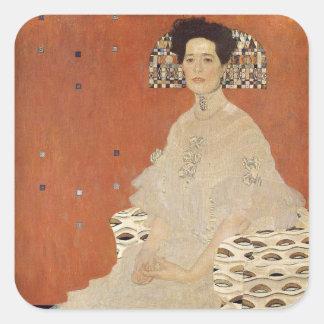 Adesivo Quadrado GUSTAVO KLIMT - Retrato de Fritza Riedler 1906