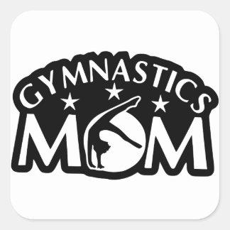 Adesivo Quadrado Gymnastics_Mom