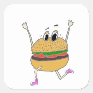 Adesivo Quadrado hamburguer running