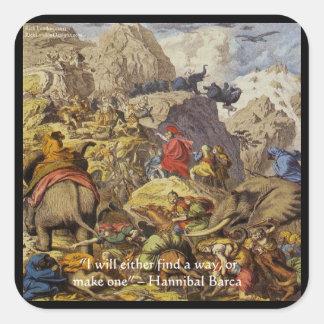 Adesivo Quadrado Hannibal Barca & exército & presentes & cartões