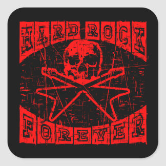 Adesivo Quadrado hard rock para sempre