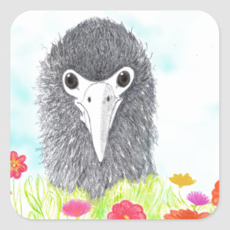 Adesivo Quadrado Haulani o pintinho do albatroz