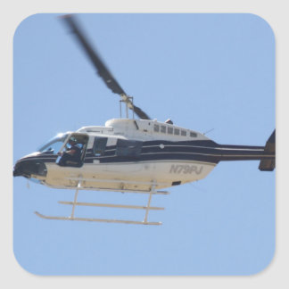 Adesivo Quadrado Helicóptero