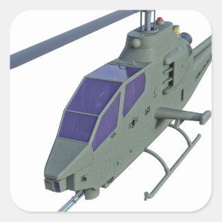Adesivo Quadrado Helicóptero de Apache na vista dianteira