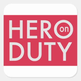 Adesivo Quadrado Hero on Duty