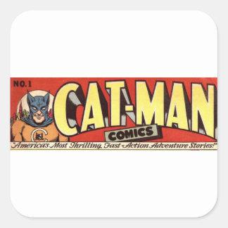 Adesivo Quadrado Homem que gosta da bandeira dos gatos