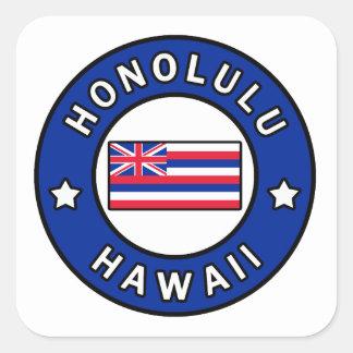 Adesivo Quadrado Honolulu Havaí