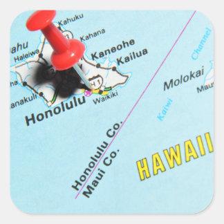 Adesivo Quadrado Honolulu, Havaí