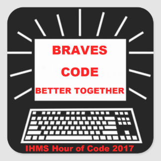 Adesivo Quadrado Hora de IHMS do código 2017