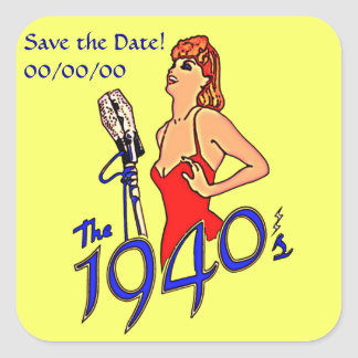 Adesivo Quadrado hora de rádio dos anos 40