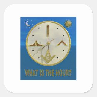 Adesivo Quadrado Hora maçónica