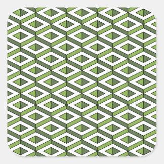 Adesivo Quadrado hortaliças e couve da geometria 3d