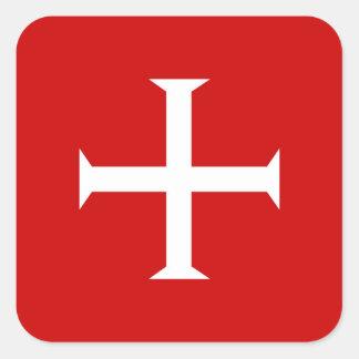 Adesivo Quadrado hospitall teutonic templar de malta da cruz