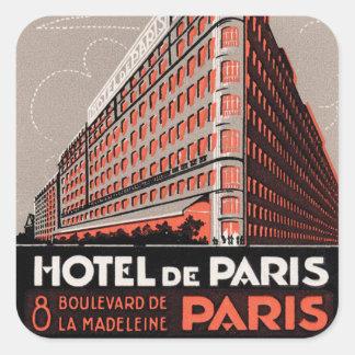 Adesivo Quadrado Hotel de Paris do vintage