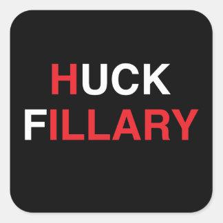 Adesivo Quadrado HUCK FILLARY Hillary Clinton