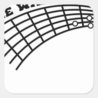 Adesivo Quadrado humor da guitarra