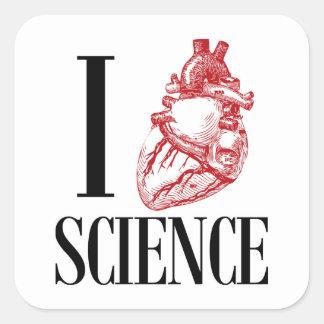 Adesivo Quadrado I heart science