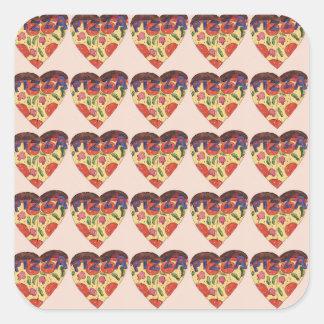Adesivo Quadrado i love pizza