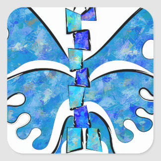 Adesivo Quadrado Icelonius - borboleta azul do gelo