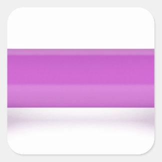 Adesivo Quadrado Ideia dianteira do dumbbell cor-de-rosa