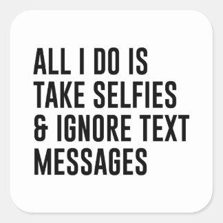 Adesivo Quadrado Ignore textos
