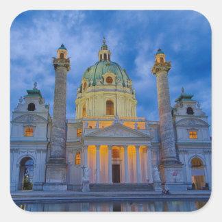 Adesivo Quadrado Igreja do santo Charles, Viena